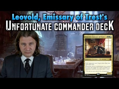 MTG - Leovold, Emissary of Trest's Unfortunate Commander Deck for Magic: The Gathering
