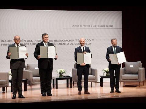 Inicia el diálogo en México entre el gobierno venezolano y la oposición, 13 de agosto de 2021