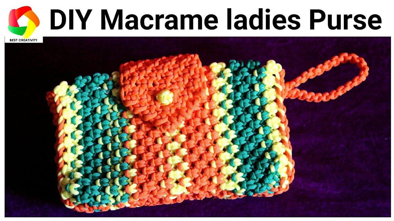 Full Making Tutorial Of Macrame Hand Purse Clutch