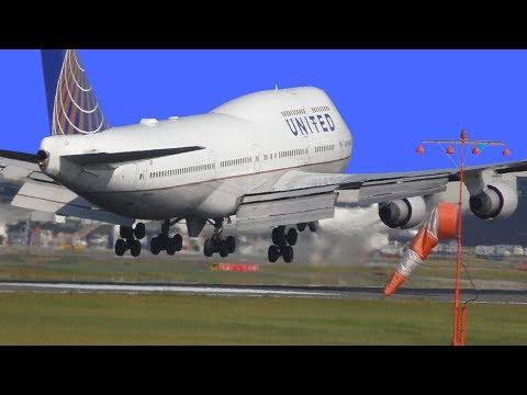 Tokyo Narita Airport with great American international planes at fantastic Spot Sakuranoyama Park