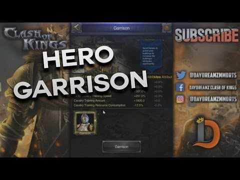 HERO GARRISON - HERO MARCH - NEW BUILDINGS - CLASH OF KINGS