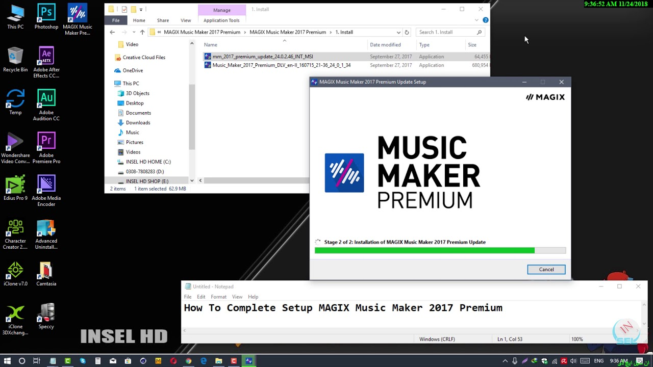 How To Complete Setup MAGIX Music Maker 2017 Premium