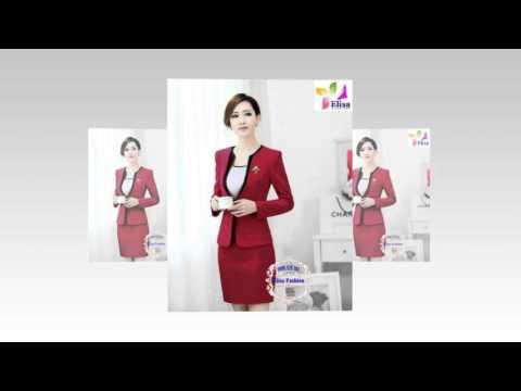 Thời trang công sở - Thời trang elisa - áo vest, đầm chân váy chuẩn đẹp