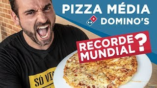 Trying to beat Domino's medium pizza world record!!