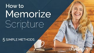 How to MEMORIZE Scripture - 5 Simple Tools [Bible Study Tips]