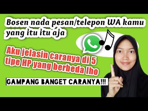 Cara mengganti nada dering WhatsApp dengan lagu