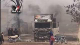Al-nusra Front  Terrorists Blow,s Up A Truck Bomb In Abo-dali, Hama