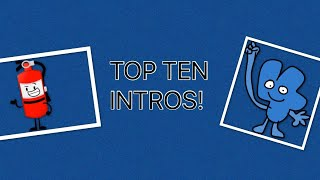 My Top Ten Favorite Object Show Intros!