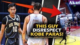 Kobe Paras pinahiya ng bagong player ng UST! | Tinitigan si Paras pagtapos I-block! | Paras Bumawi!