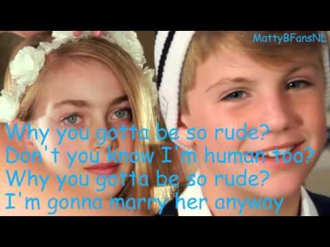 Magic!   Rude MattyBRaps Cover Lyrics   YouTube