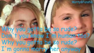 Magic!   Rude MattyBRaps Cover Lyrics   YouTube
