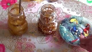 Здоровые почки. Кедровые орехи с медом.
