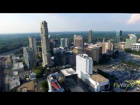 FlyWorx Aerial: Atlanta Buckhead Skyline