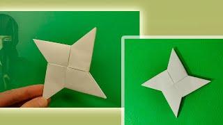 Jak zrobić papierową gwiazdę ninja - Origami Ninja Star Shuriken - papierowa gwiazda DIY