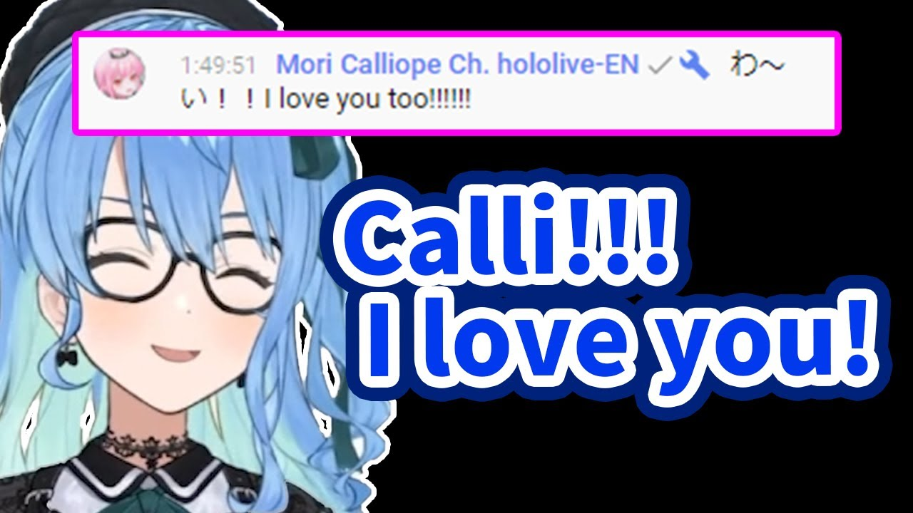 Calli visit Suisei's stream and they will confess their love each other【Hololive/Eng sub】