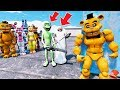 CAN BUFF FREDDY SAVE ALL THE ANIMATRONICS FROM GRANNY & DAME TU COSITA? (GTA 5 Mods FNAF RedHatter)