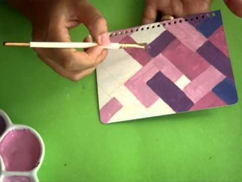 tutorial como pintar cuadernos paint covers pintura facil para tiwmv youtube