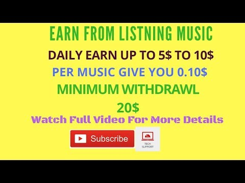 Earn Money from Online Musicxray 10$ per hour - how to make money online by listning music 2018