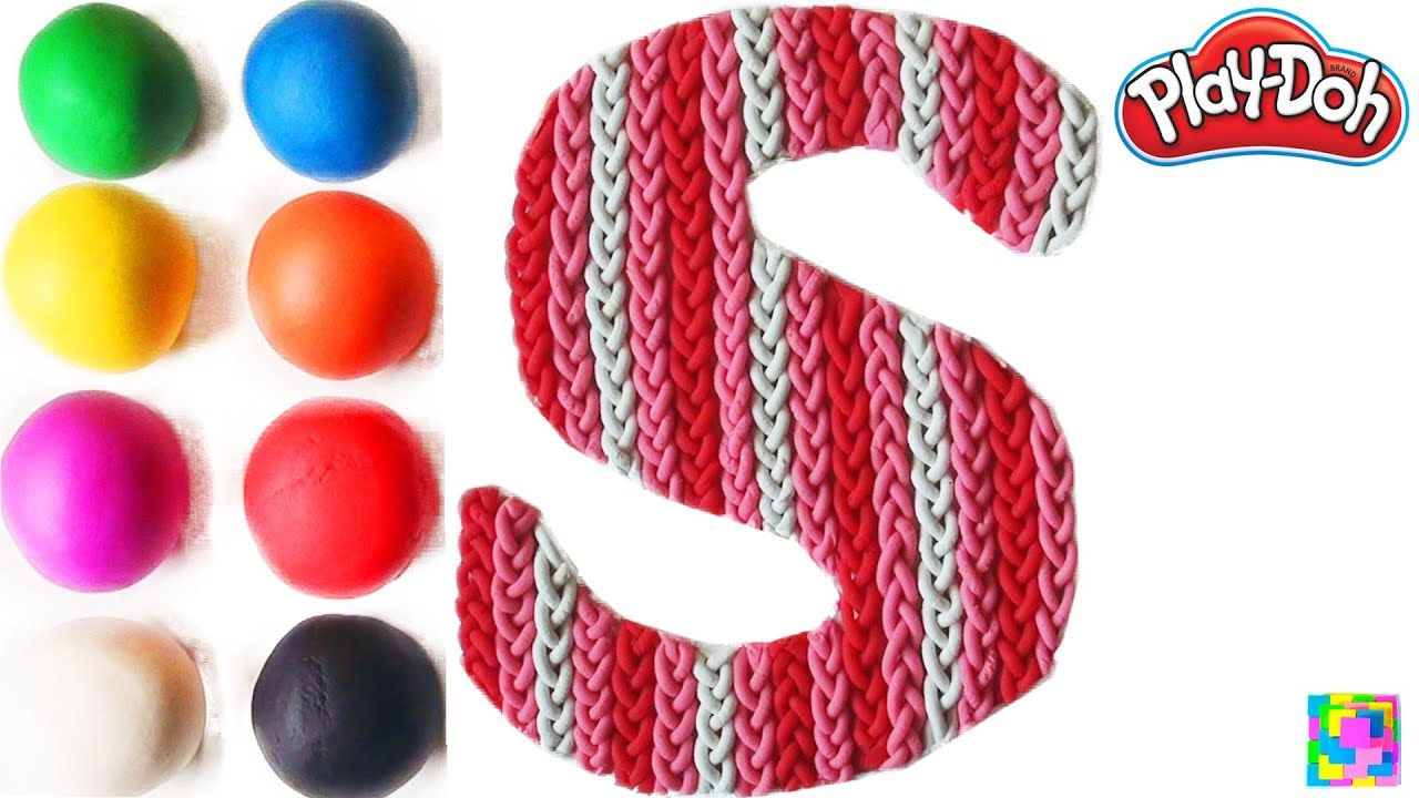 The Letter S. Learning ABC with play doh. Learn Colors & alphabet ...