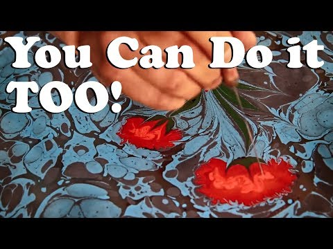 Painting On Water: Turkish Marbling Known As Ebru In Istanbul