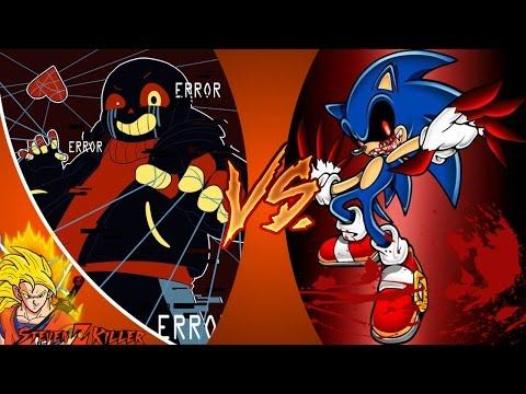 ERROR!SANS vs SONIC.EXE! (Undertale vs Creepypasta) Cartoon Fight Club Episode 106 REACTION!!!