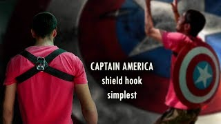 how to make captain america shield hook for back (without magnet!!!)