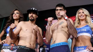 Robert Guerrero vs. David Peralta Complete Weigh In & Face Off Video