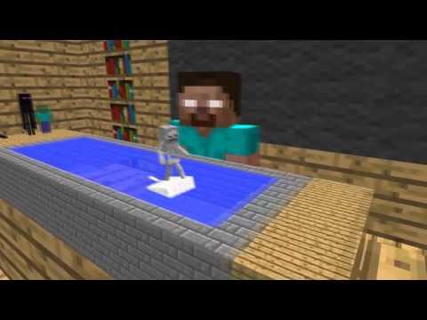 canavarlar okulu yüzme sınavı  minecraft türkçe animasyon