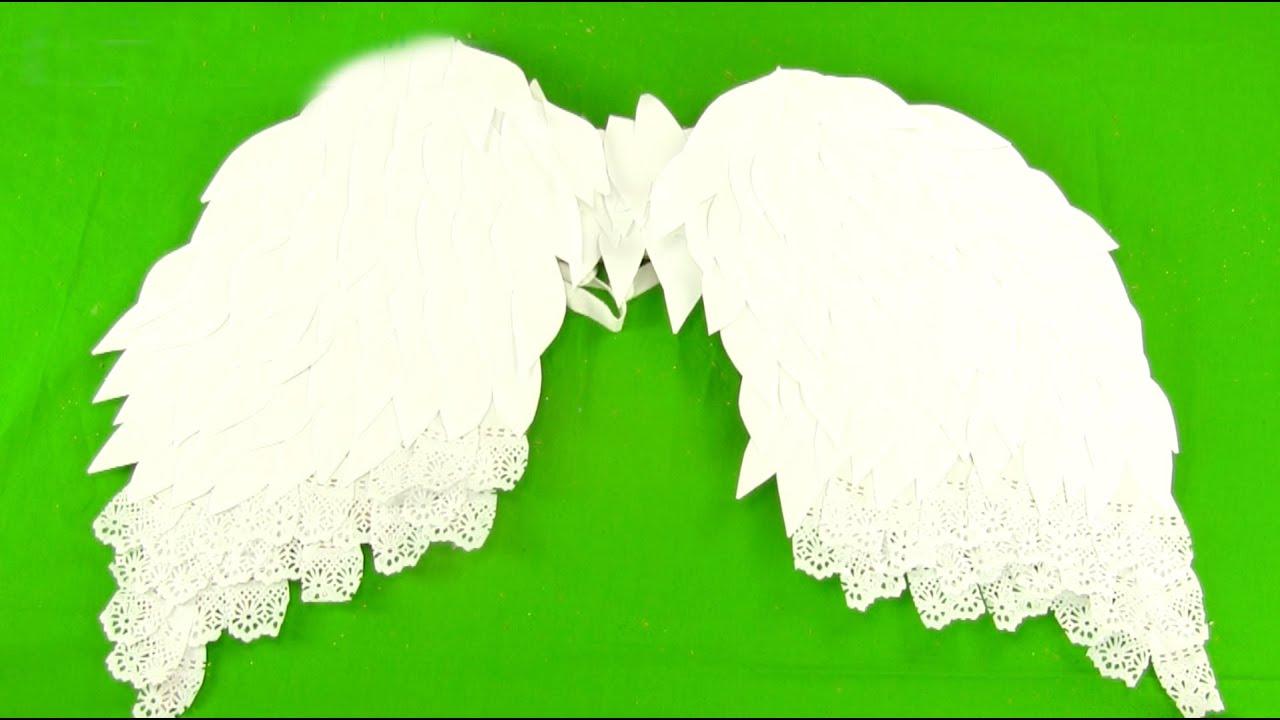 Cómo hacer unas alas de ángel paso a paso - YouTube