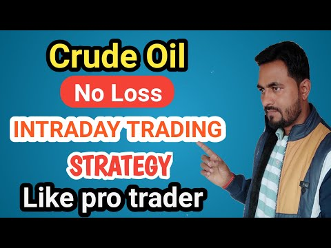 Best Intraday Strategy For Crude Oil | Crude Oil Intraday Trading Strategy | Mcx Crude Oil Strategy