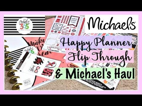 Happy Planner Flip Through 2017 & Michaels Haul | Switching from Erin Condren, Sugar Paper