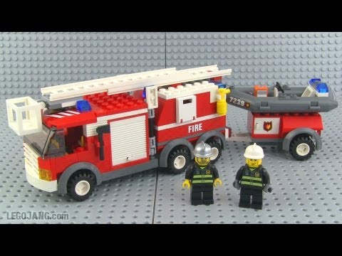 Lego City Fire Truck 7239 Review Youtube