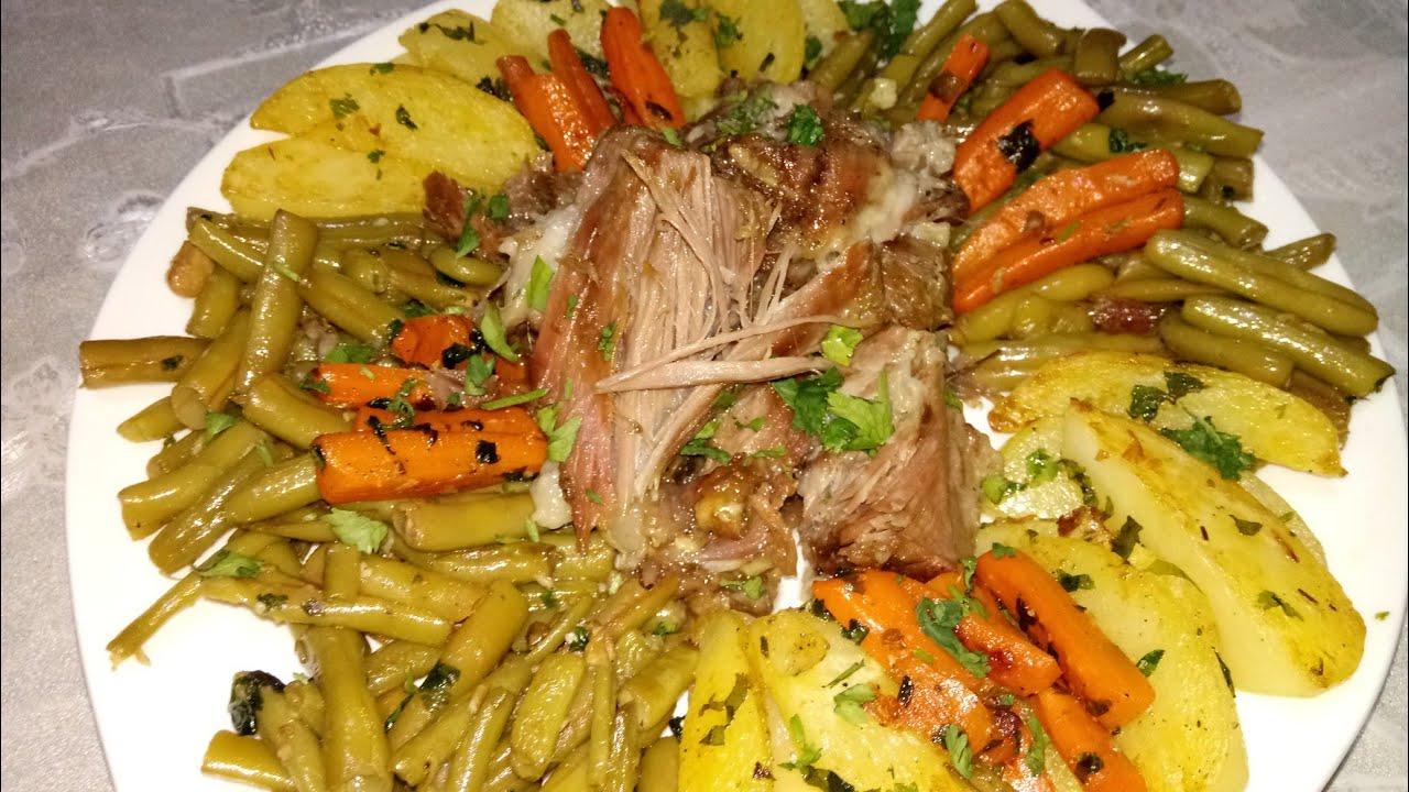 خضرة سوطي مع لحم طايب و ذايب