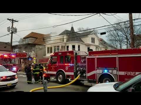 Passic Nj FD 4th Alarm Fire (King of Delancey deli) W/Entrapment 4-18-18 P-1