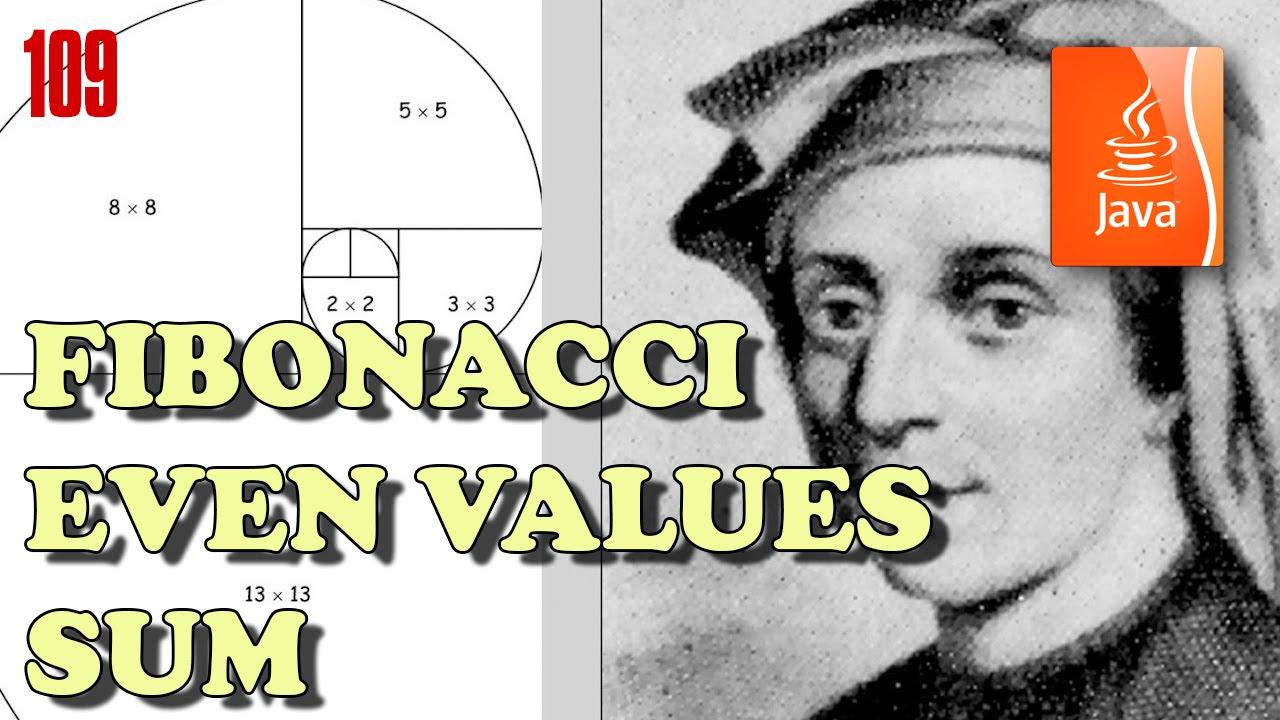JAVA Exercises: Even Fibonacci numbers - YouTube