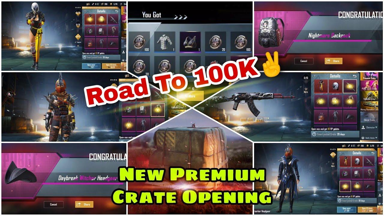 😤New Premium Crate Opening Pubg Mobile | Pubg Mobile Dark Widow Set Crate Opening