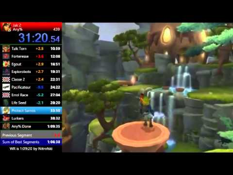 Jak 2 Any% (Old)WR [1:08:48] ( single segment )