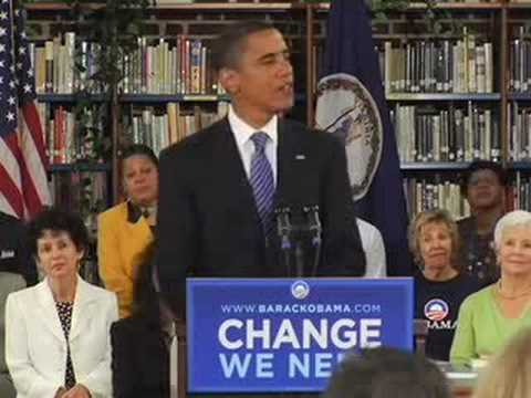 "Barrack Obama Responds to Attacks - ""Enough"" Sept 10, 2008"