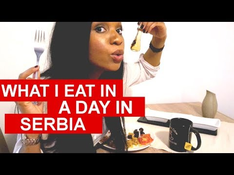 What I Eat in a Day in Serbia (American in Serbia E4)