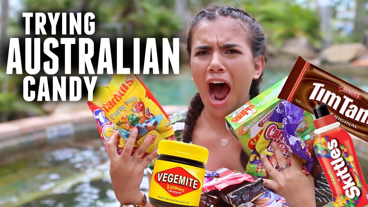 TRYING WEIRD AUSTRALIAN CANDY - YouTube