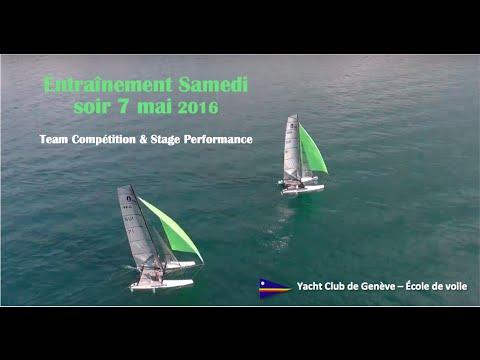 Yacht Club de Genève - Entraînement du samedi soir 7 mai 2016: Team Compétition et Stage Performance