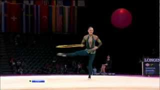Alina Maksimenko 2011-2012 Hoop Revised for London 2012(Alina maksimenko hoop 2012 kabaevagames gymnasts new olympics Evgenia kanaeva rhythmic gymnastics mistakes cool tricks best elements safri duo rise ..., 2012-07-02T04:39:51.000Z)