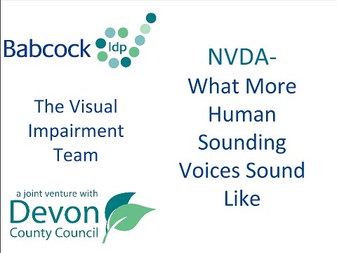 NVDA: What More Human Sounding Voices Sound Like
