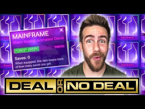 BLIND TRADING FOR A PAINTED MAINFRAME IN ROCKET LEAGUE!
