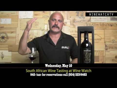South African Wine Tasting at Wine Watch - click image for video