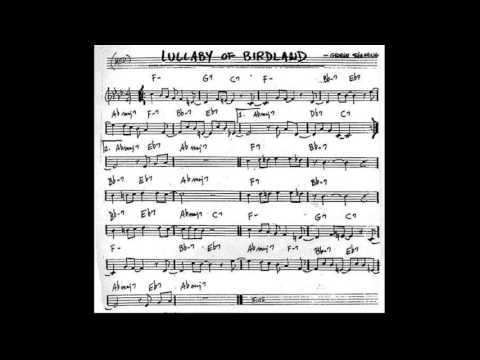 Lullaby of Birdland Play along - Backing track (C  key score violin/guitar/piano)