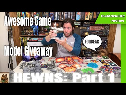 Watch the new Hewns Game Preview Miniatures and Mechanics!
