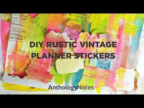 DIY Rustic Vintage Planner Stickers