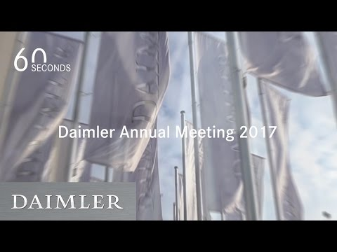 Daimler | General Shareholders' Meeting 2017 in 60 Seconds