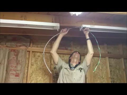 Installing Shop Lights Part 1 Youtube